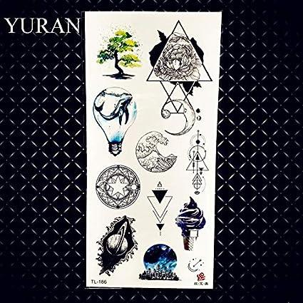 HXMAN 3 Unids Marín Medusas Impermeable Tatuajes Temporales Para ...
