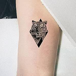 TAFLY Tatuajes Temporales Pegatinas de tigre triángulo cuerpo arte ...