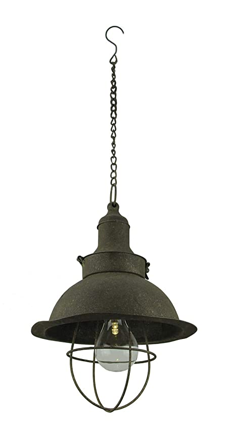 buy popular b0ac3 6bf12 Antiqued Farmhouse Battery Operated LED Pendant Light ...