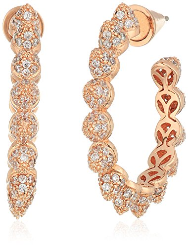 EDDIE BORGO Pave Mini Cone Rose Gold Hoop Earrings for sale  Delivered anywhere in USA