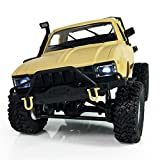 Gbell RC Cars Off-Road,1:16 WPL C14 Scale 2.4G 2CH 4WD Mini RC Semi-truck, Rock Vehicle Climb Car Gifts for Kids Adults (Yellow)