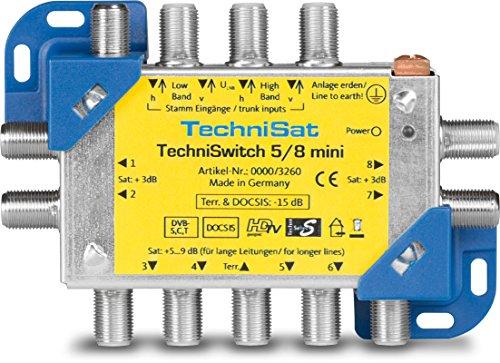 TechniSat 0000/3260 TechniSwitch 5/8 mini Multischalter-Satverteilung für 8 Teilnehmer