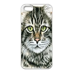 Nuktoe Iphone 5S Case Cat Face Drawing by Pencil KN297237