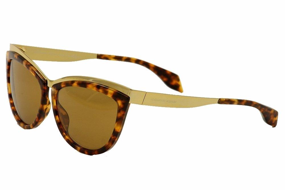 Alexander McQueen 4251/S Sunglasses 08JC H0 Gold-Havana / Brown Lens 57 MM by Alexander McQueen