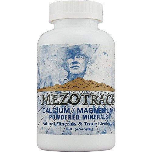 Mezotrace Calcium/Magnesium Powdered Natural Minerals and Trace Elements Supplement, 1 Pound