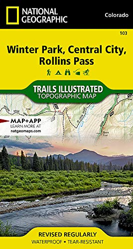 Winter Park, Central City, Rollins Pass (National Geographic Trails Illustrated Map) (Park City Outlets)
