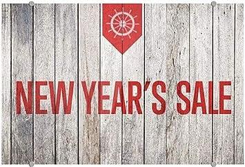 CGSignLab 27x18 Nautical Wood Premium Brushed Aluminum Sign New Years Sale