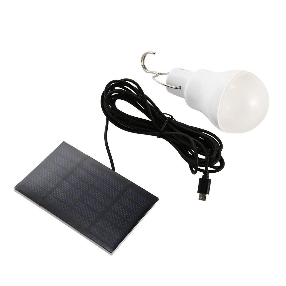 Portable Home Ultra Bright Creative Solar Led Bulb White -1 Portable 15w 130lm.