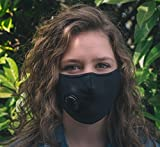 Anti-Pollution Mask, Anti-Dust Mask, Allergy/Flu Season Protection Mask, PM 2.5 Sports Mask with Adjustable Straps - 1 Mask + 4 Filters with Activated Carbon Filtration - By Sunside Company