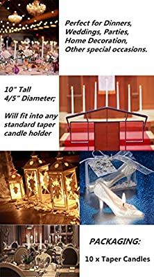 "Blessed family White candles,Dripless Taper Candles 10"" Inch,Set of 12 Smokeless Candles,Decoration for Wedding, Churches, Dinner, Halloween and Christmas"