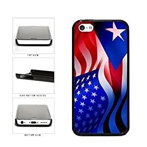 Puerto Rico and USA Mixed Flag Plastic Phone Case Back Cover Apple iPhone 5c