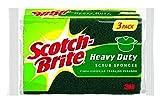 Scotch-Brite Heavy Duty Scrub Sponge, 3 Count (Pack of 8)