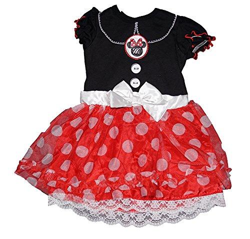 Disney Minnie Mouse Baby Girl Dress w/ Polka Dot Ruffle Flounce - Classic Print Classic Ruffle Capri Pajama