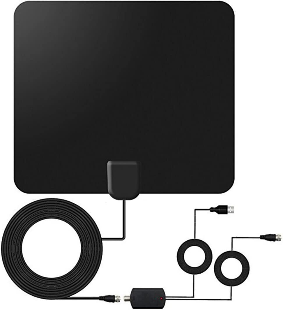 TV Antenna,2019 Indoor Amplified Digital HDTV Antenna 90 Miles Range 4K 1080P HD VHF UHF for Local Free Local HD TV Channels CZABV