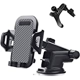 Car Phone Holder Vent Dashboard Windshield - ORFORD Adjustable One Touch Design Car Phone Mount iPhone X 8 8s 7 7Plus 5s 6s 6 Plus, Samsung Galaxy S8 Note 8 S7 Edge, Stand Holder Androids