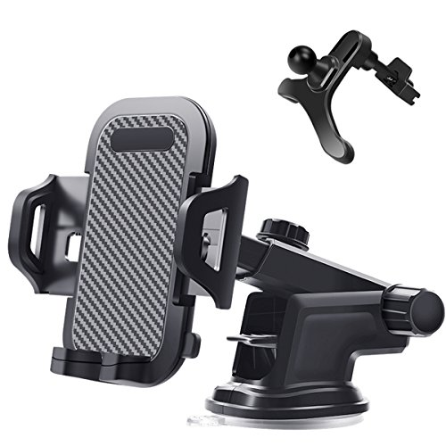 Car Phone Holder Vent Dashboard Windshield - Orford Adjustable One Touch Design Car Phone Mount iPhone X 8 8s 7 7Plus 5s 6s 6 Plus, Samsung Galaxy S8 Note 8 S7 Edge, Stand Holder Androids by ORFORD