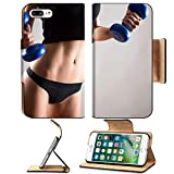 Luxlady Premium Apple iPhone 7 Plus Flip Pu Leather Wallet Case IMAGE ID: 23222544 Fitness woman Slim woman with dumbbells