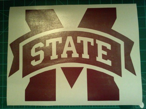 Burgundy Vinyl Bean Bag - Mississippi State Cornhole Decals - 2 Cornhole Decals Vinyl Vehicle Decals (11.45, Cornhole Vinyl Decals)