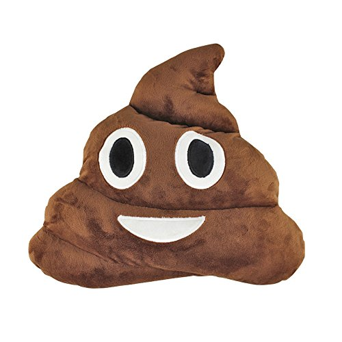 13.8 inch Poop Emoji Pillow Plush Toys for Kids Boys Girls, Stuffed Poo Emoji Cushion Pillow Head Back Pillow Throw Pillow Emoji Games Plushies for Home Bed Office Sofa Decoration