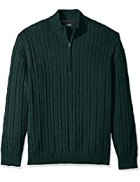 Men's Premium Essentials Cable Knit 1/4 Zip Sweater