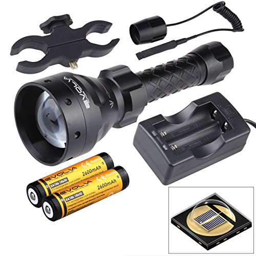 - Evolva Future Technology Lens Infrared Flashlight IR T67 67mm Night Vision Torch Light - Infrared Light is Invisible to Human Eyes (Torch+Battery+Charger+Pressure Switch+Scope Mount)
