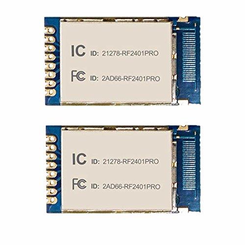 NiceRF RF2401PRO 2.4G FCC Approval 2.4G Wireless transceiver module, 2 pcs by Luabby Smart