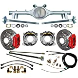 "NEW CURRIE 64-66 GM A-BODY REAR END WITH WILWOOD DISC BRAKES, 11"" ROTORS, RED CALIPERS, BRAKE LINES, PARKING BRAKE CABLES, AXLES, BEARINGS, 1964, 1965, 1966 CHEVY CHEVELLE, EL CAMINO"