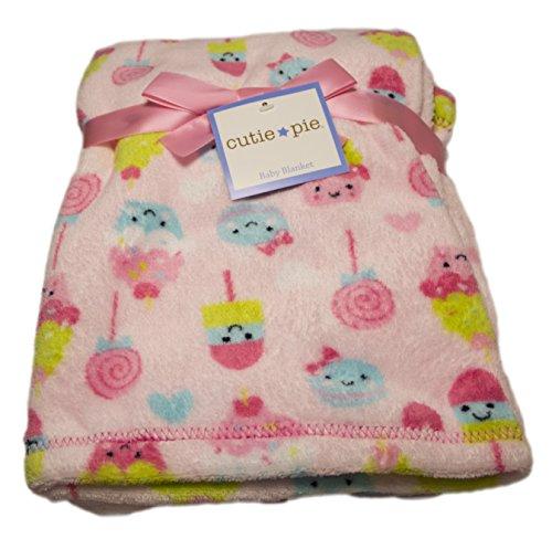 Cutie Pie Girls' Pink Sweets Baby Blanket 30