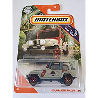 Matchbox 2020 MBX Jungle Jeep Wrangler Rollbar (Jurassic Park), 72/100