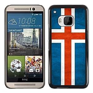 Be Good Phone Accessory // Dura Cáscara cubierta Protectora Caso Carcasa Funda de Protección para HTC One M9 // National Flag Nation Country Iceland