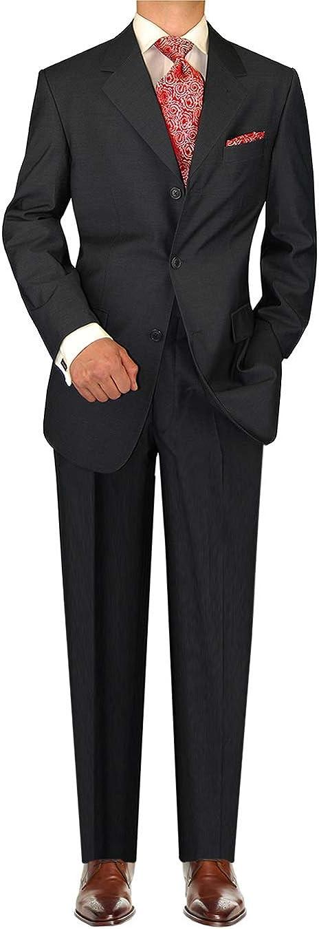 DTI GV Executive Italian Mens Suit Set Wool 3 Button Vested Piece Stripe