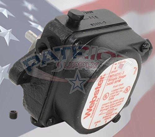 Webster M34DK-3 Fuel Unit 3 GPH, 3450 RPM, For # 1, # 2, Fuel Oil And Kerosene