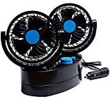 Taotuo 12V 360 Degree Rotation Adjustable Strong Wind Oscillating...