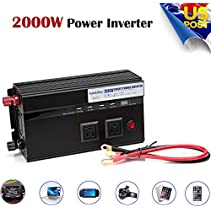 Digital Display Car Power Inverter 2000W Watt USB Ports 12V DC to 110V AC Adapters Converter Charger
