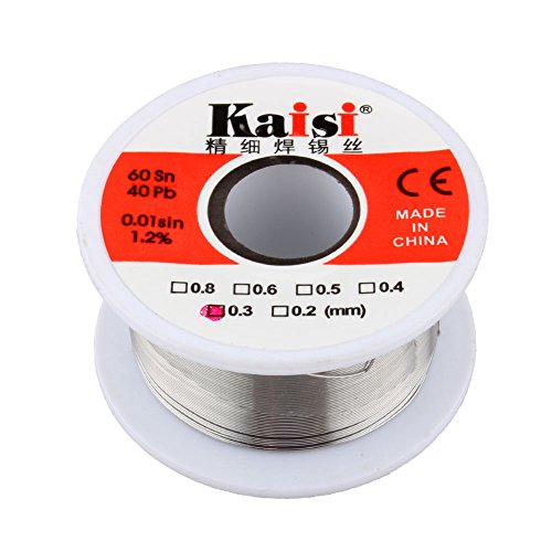 Lead Free Solder,General Purpose Acid Solder Wire Soldering with Rosin Core for Electrical Repair Solder Flux Tin 50g (0.5mm)