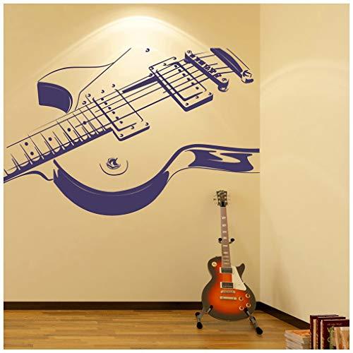 azutura Guitarra eléctrica Vinilos La música rock Pegatina Decorativos Pared Kids Bedroom School Decoración disponible en 5 tamaños y 25 colores X-Grande ...