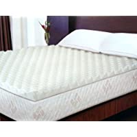 Adorable Memory Foam Mattress Topper of Peak and Valley Design, King, White