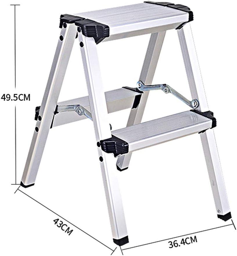 Ladder Stool Escalera de Aluminio para Taburete de 2 a 5 Pasos para Adultos y niños, Plegable, portátil, para Interiores, Cocina, 150 kg de Peso: Amazon.es: Hogar