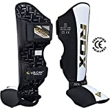 RDX Shin Guards Leather MMA Instep Leg Pads Thai Boxing Training Protective Gear Muay Thai Kickboxing (CE Certified Approved by SATRA)