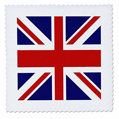 3dRose qs_62560_7 Union Jack Old British Naval Flag Quilt Square, 18 by (Art Union Jack Flag T-shirt)