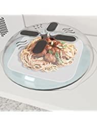 Hover Cover - Magnetic Microwave Splatter Lid with Steam Vent...