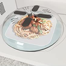 Hover Cover - Magnetic Microwave Splatter Lid with Steam Vents | Dishwasher-Safe & BPA-Free | 11.5 – Inch