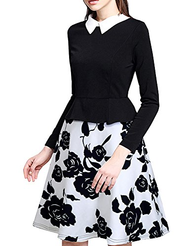 HOMEYEE Womens Vintage Floral Collar product image