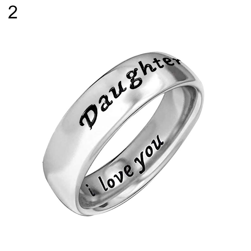 Mom US 5 skoqjFQSen Boutique Accessory Gift Rings I Love You Carved Letter Finger Ring Mom-Daughter Jewelry
