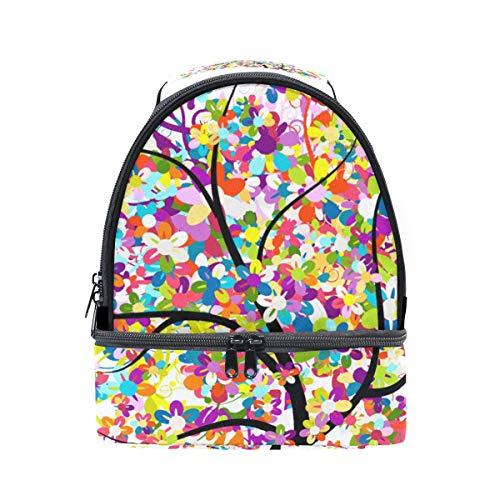 réglable pour Arbre Rainbow à avec avec Cooler Sac isotherme coloré bandoulière Pincnic l'école papillon Boîte à Folpply Tote lunch xfwy6ZE5qq