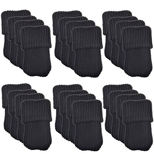 BCP 24pcs Knitting Wool Furniture Socks/ Chair Leg Floor Pro