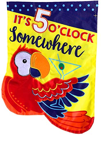 - Briarwood Lane 5 O'Clock Applique Summer House Flag Tropical Cocktails 28