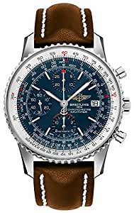 Breitling Navitimer Heritage Blue Dial Men's Watch w/ Brown Leather Strap A1332412/C942-438X