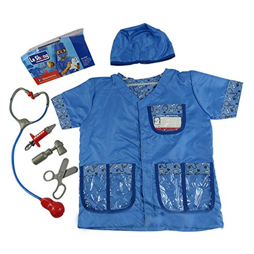 Veterinarian Costume Dress Up Animal Doctor Costume Halloween Role Play Party Career Day -