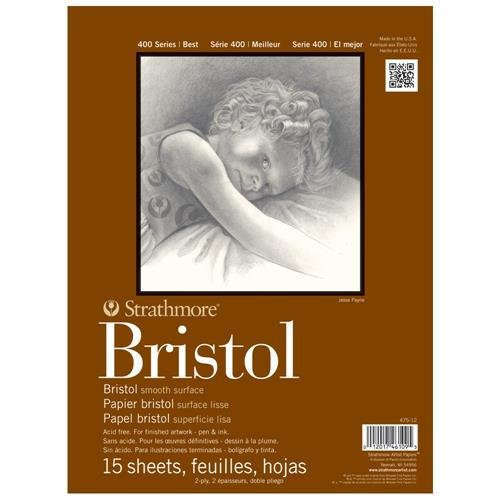 strathmore-str-475-12-15-sheet-bristol-plate-pad-9-by-12
